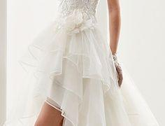 21 Lovely Hi Low Hemline Wedding Dresses