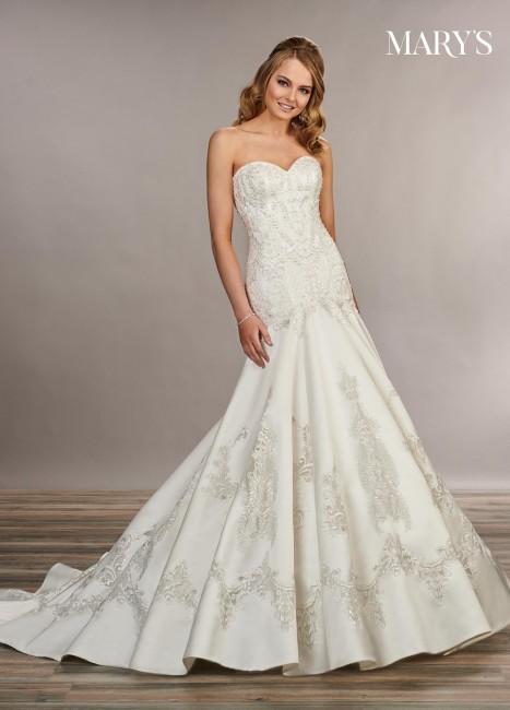 marys bridal mb3073 drop waist bridal dress 01 677