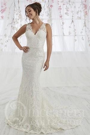 novia collection cutout back bridal dress 01 543