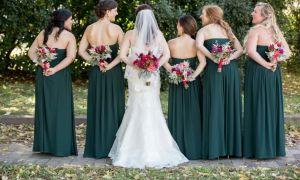 28 Awesome Hunter Green Bridesmaid Dresses