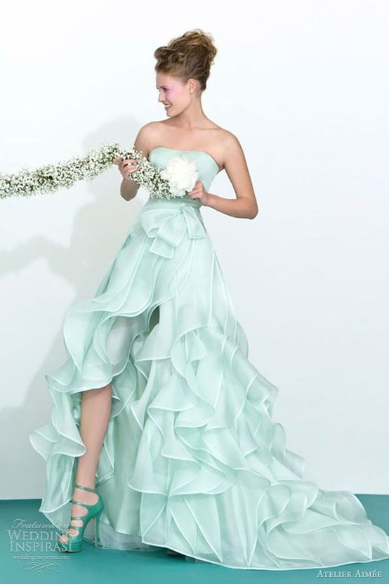 beach wedding gown beautiful green ombre wedding dress lovely media cache ec4 pinimg originals 0d