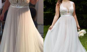 30 Fresh Inexpensive Plus Size Wedding Dresses