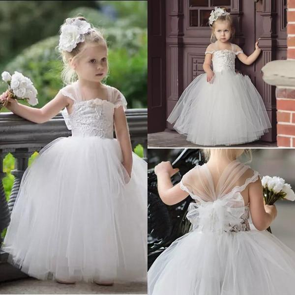 Infant Wedding Dresses Lovely 2018 Cute toddler Flower Girls Dresses for Weddings Newest Lace Tulle Tutu Ball Gown Infant Children Wedding Dresses Party Dresses Black Dresses