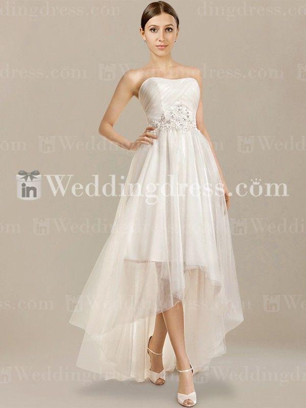 Informal Wedding Dress Tea Length Beautiful High Low Beach Wedding Dress is A Truly Elegant and Lovely