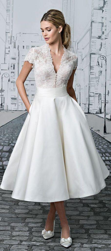 Informal Wedding Dress Tea Length Luxury Tea Length Wedding Dresses Bridesmaid