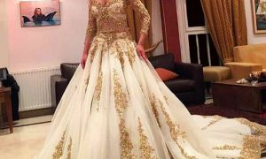 26 New Ivory and Gold Wedding Dresses