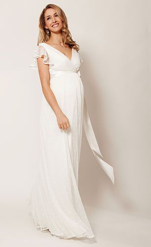 Ivory Color Wedding Dress Luxury Hannah Maternity Wedding Gown Long Ivory by Tiffany Rose