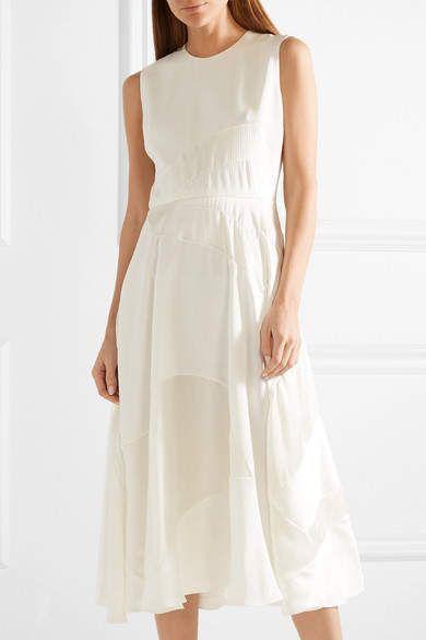 Ivory Silk Dress Elegant Roksanda Keanu Silk Crepe and Faille Midi Dress Ivory