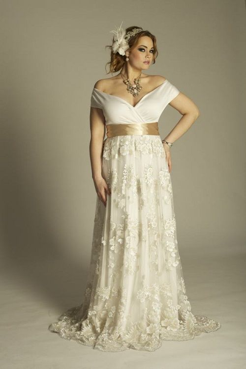 plus size vintage wedding gowns elegant this is an off the shoulder plus size wedding dresses with short