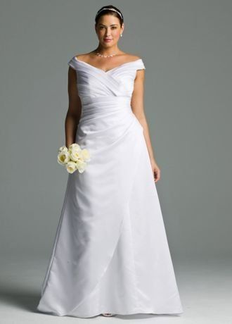 Jcpenny Wedding Dresses Fresh Wedding Dress Plus Size Satin F the Shoulder A Line with