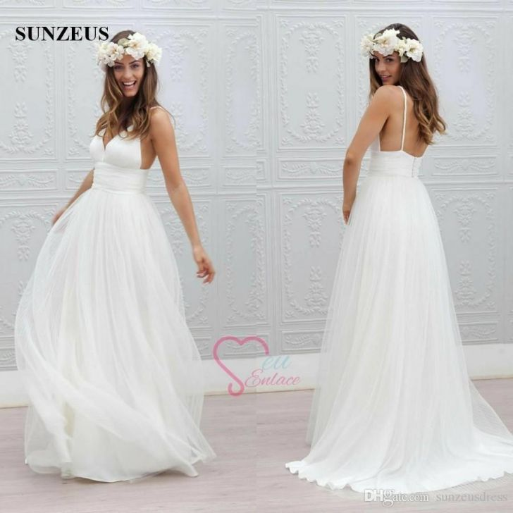 discount a line spaghetti straps low back bride dress simple ivory at jcpenney wedding dress 728x728