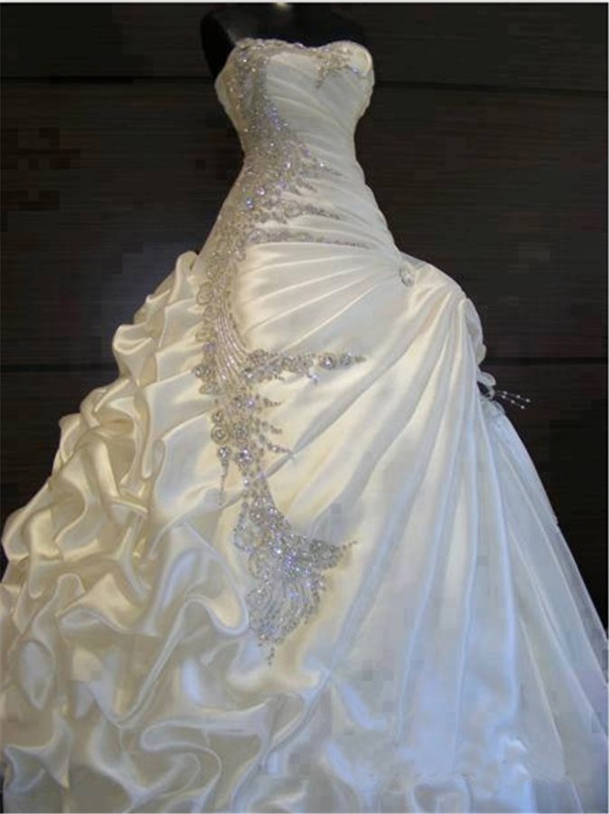 tide wedding dresses exquisite beaded crystal pick ups ball gown wedding dress tide innovative