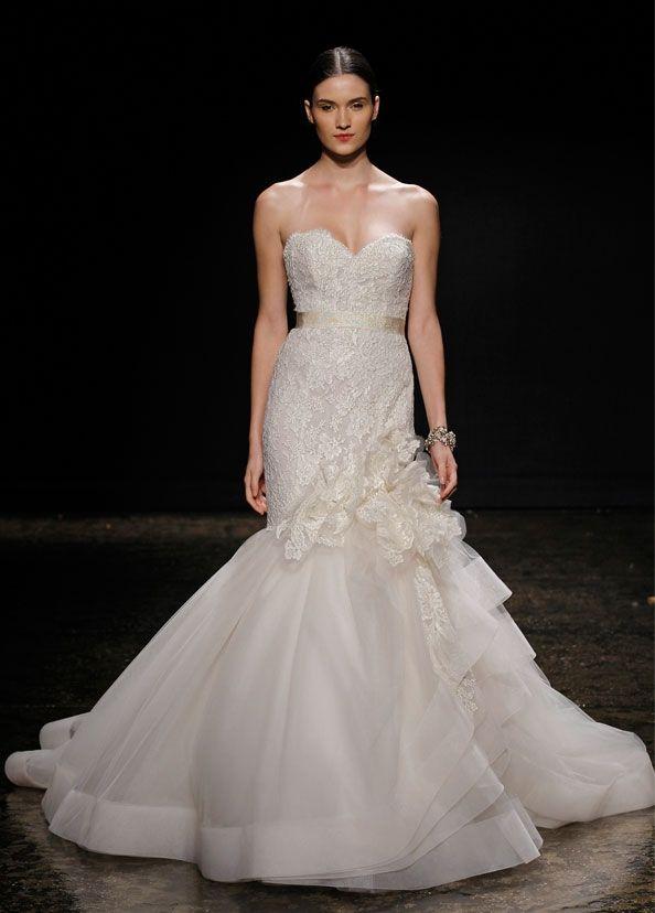 mermaid gown wedding new kleinfeldbridal lazaro bridal gown mermaid natural