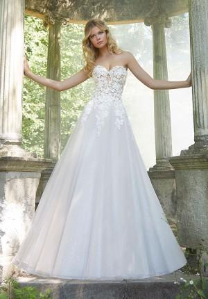 mori lee 2044 pierette strapless wedding dress 01 578