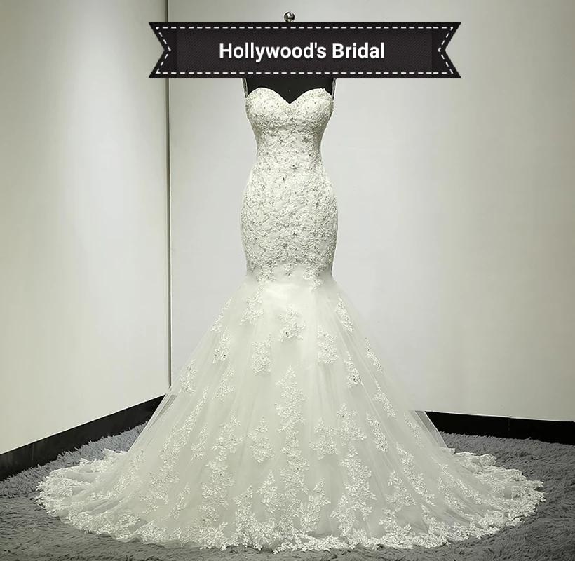 Wedding Dress Sleeveless lace and beading with train HB original1