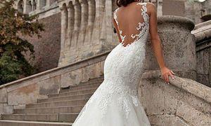28 Elegant Lace Back Wedding Dresses
