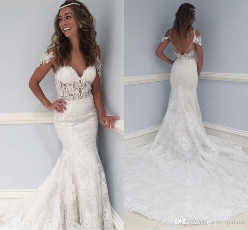 Lace Sweetheart Wedding Dresses Luxury Arabic Style Plus Size Wedding Dresses Sweetheart Neck Lace Appliques Mermaid Wedding Gowns Sweep Train Y Open Back Bridal Dresses Black Wedding