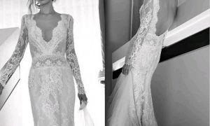 27 Awesome Lace Wedding Dresses with Sleeves and Open Back