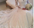 Latest Wedding Dress Awesome V Neck Lace Wedding Dress with Long Sleeve In 2019
