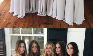27 Beautiful Light Grey Bridesmaid Dresses Long