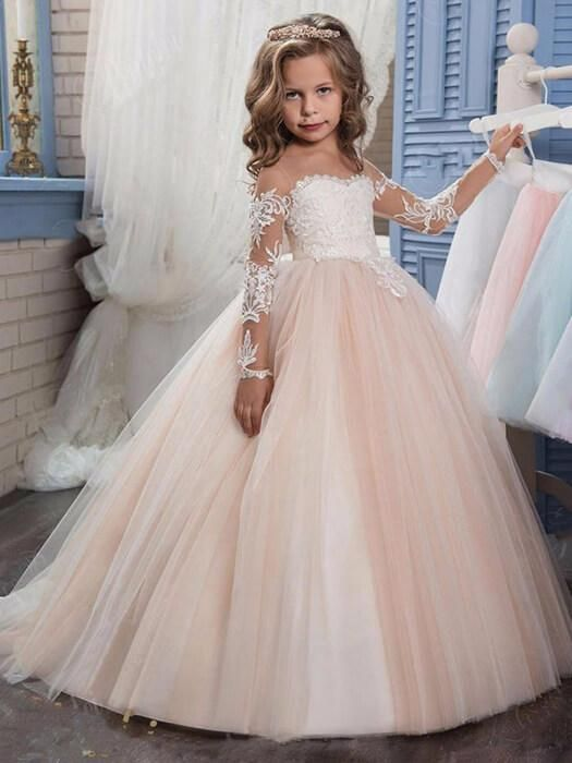 Little Girl Wedding Dresses Luxury Lovely Princess Dress Girls Outfits In 2019