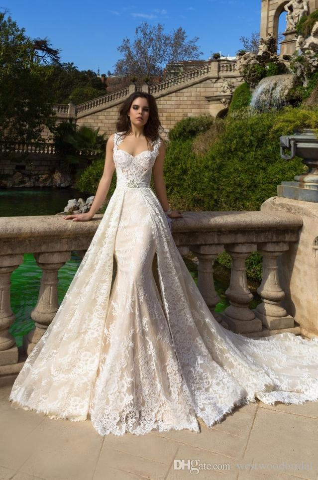 2018 mermaid wedding dress beach wedding