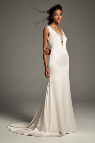 Long Dresses for Beach Wedding Beautiful White by Vera Wang Wedding Dresses & Gowns