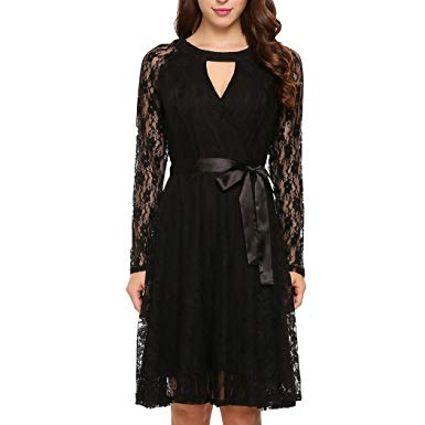 maxi dress for wedding reception best of od lover women elegant choker long sleeve lace midi dress with belt