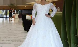24 Beautiful Long Plus Size Wedding Dresses