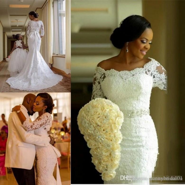 modest plus size mermaid wedding dresses