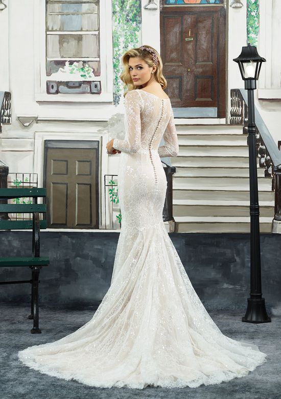 Long Sleeve Beaded Wedding Dress Awesome Style 8959 Beaded Chantilly Lace Long Sleeve V Neck Gown