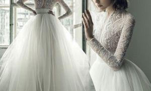 27 Luxury Long Sleeve Beaded Wedding Dress