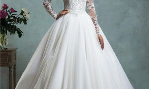 30 Luxury Long Sleeve Lace Ball Gown Wedding Dresses