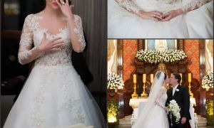 24 Luxury Long Sleeve Lace Wedding Dress for Sale