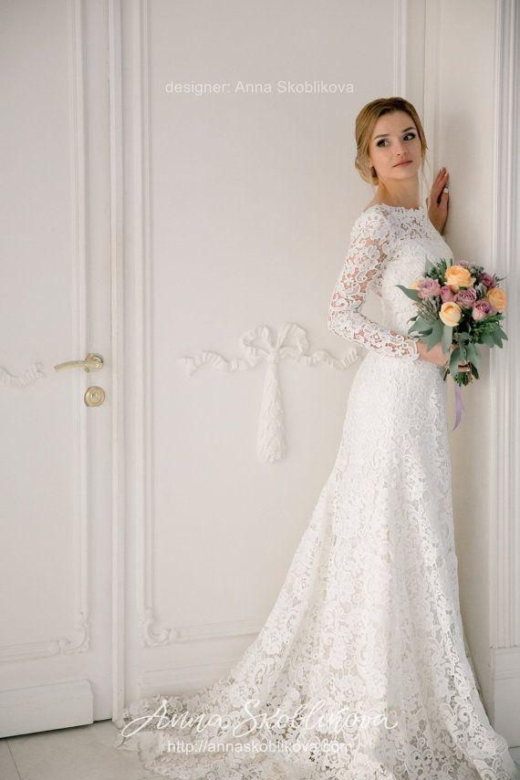 Long Sleeve Wedding Dresses Designer New Long Sleeves Wedding Dress Wedding Gown Lace Wedding Dress