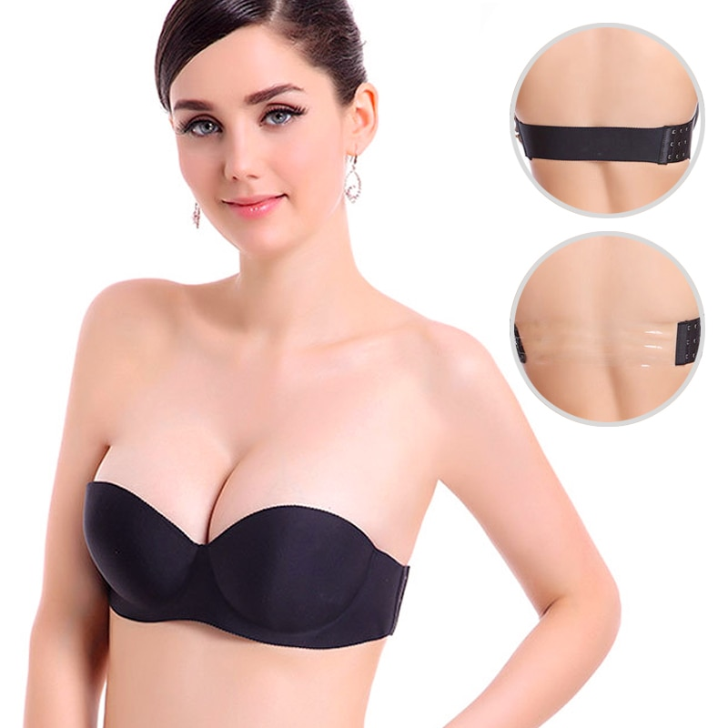 Women Magic Push Up Bra Strapless Women s Bras Underwired 1 2 Cup Back Band Dress