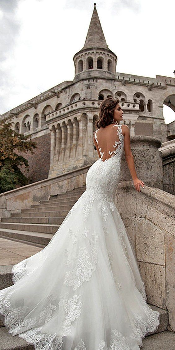 Low Back Wedding Gown Beautiful Pin On Wedding Dresses