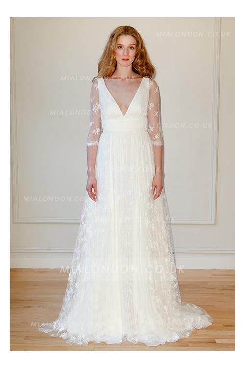 low back wedding gown unique boho cheap wedding dresses