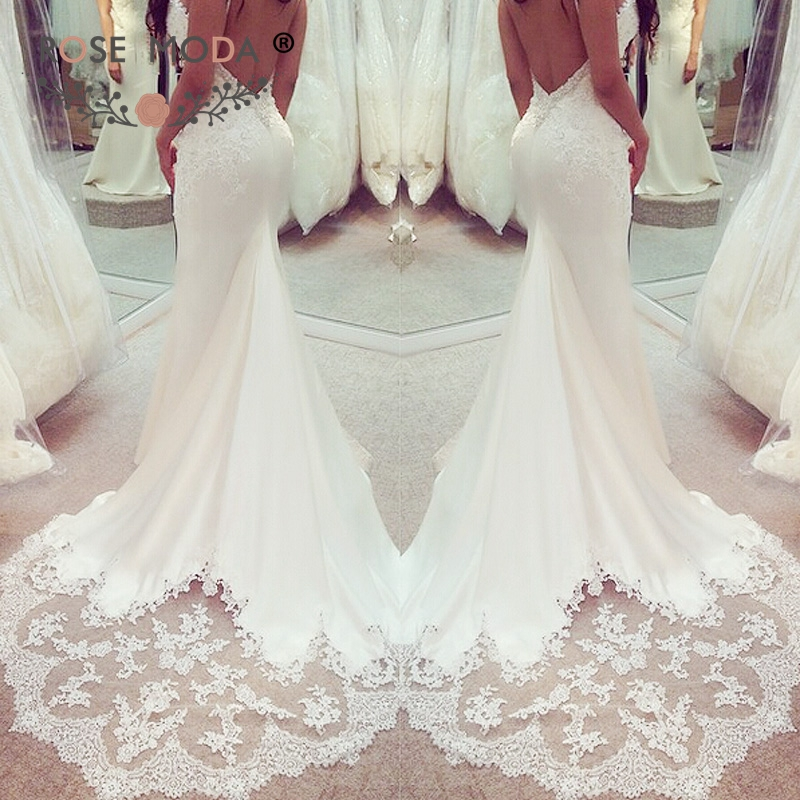 low back wedding gown awesome rose moda low open back fitted wedding dress with lace scalloped