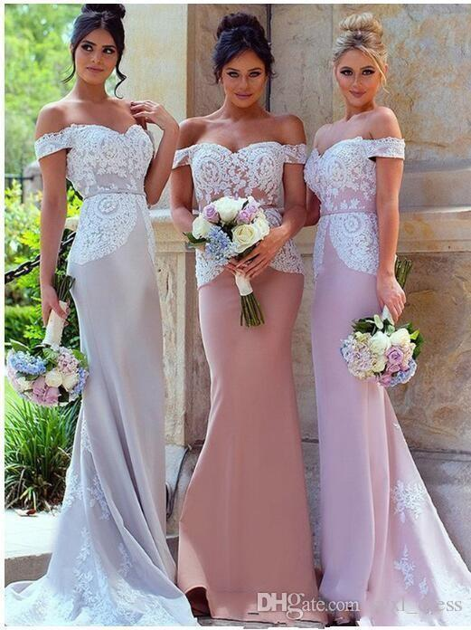 2019 south africa style elegant mermaid bridesmaid