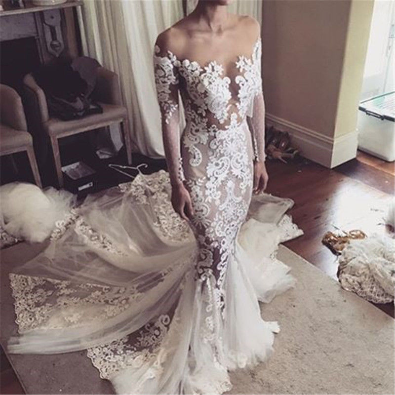 Luulla Wedding Dresses Fresh 2018 Y Mermaid Wedding Dress Sheer Bodice Wedding Dresses Lace Bridal Dress Long Bridal Gown