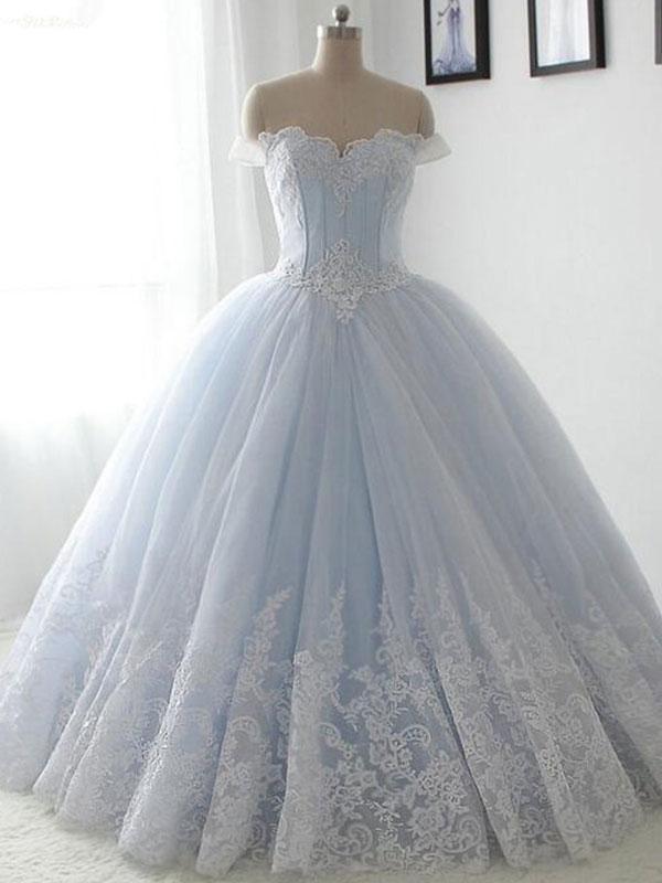 Luulla Wedding Dresses Unique Elegant Ball Gown Tulle Wedding Dresses Ball Gown Wedding Dresses Floor Length Wedding Gowns Long Lace Dresses F the Shoulder Beading Bridal