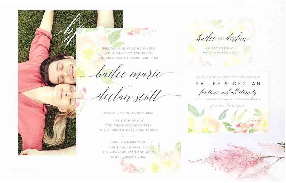 davidamp039s bridal wedding invitations jordan river wedding invitation suite mormon wedding of david039s bridal wedding invitations 2
