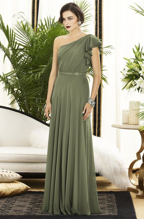 olive green wedding dress olive green bridesmaid dress things i love pinterest graceful