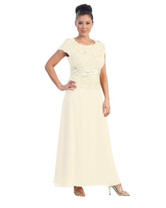 white plus size mother of the bride dresses with sleeves