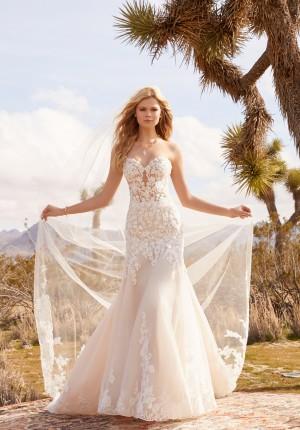 mori lee 2073 roxanne strapless sweetheart neckline wedding dress 01 646