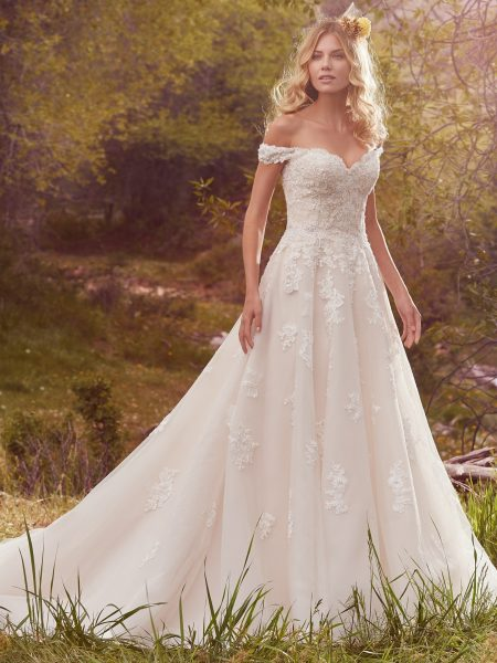 maggie sottero a line wedding dress 450x600
