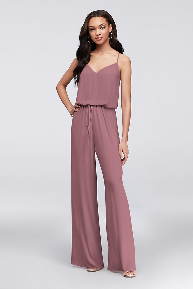 Marine Bridesmaid Dress Luxury Flowy Wide Leg Geor Te Bridesmaid Jumpsuit Style F