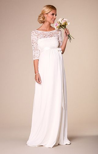 Maternity Dresses for Wedding Elegant Lucia Maternity Wedding Gown Long Ivory White Maternity