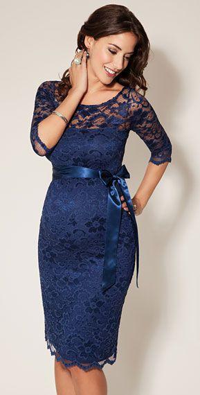 Maternity Dresses for Wedding Guests Elegant Amelia Lace Maternity Dress Short Windsor Blue Maternity